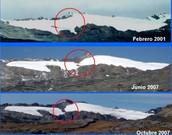 Deshielo de glaciares en los Andes