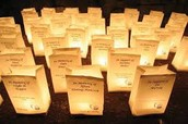 Honor your loved one with a $5 luminaria!