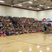 Mr. Butler speaking to a full house.