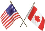 Flags of the U.S and Canada