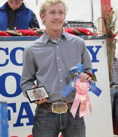 Austin with his awards at the Brown County Youth Fair