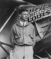 "Lindbergh with the ""Spirit of St, Louis"""