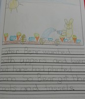 Student story about planting vegetables