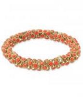 Vintage twist bracelet orange- SOLD