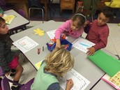 Working on our respect books.
