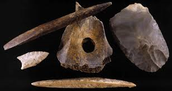 Materials that they used to make weapons and tools