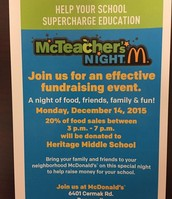 McDonalds Fundraiser (Cermak and Ridgeland)