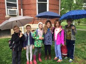 Rainy morning carpool at Norwood Park