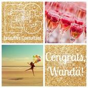 Congrats, Wanda!