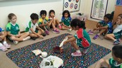 Grade 1CNe discussing the ingredients to make a happy classroom