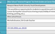 Carver Elementary - 5th Grade Afterschool Program