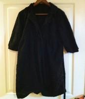 78. Seduction Black Coat, Lace Overlay, Lg (fits smaller)