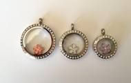 Large, medium and mini lockets