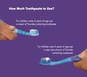How much toothpaste is okay to use?