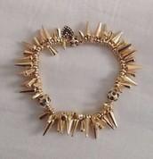 Renegade Cluster Bracelet Gold