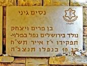מצבה לזכרו של נסים גיני בהר הרצל