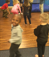 Dancing and Singing with Miss Shauna's Class and Miss Kasey!