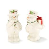 Lenox Happy Holly Days Snowman Salt & Pepper Set