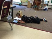 Kindergarten using ipads for reading stations