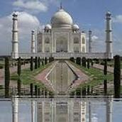 A Front View Of Taj Mahal