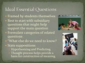 Components of Essential Questions