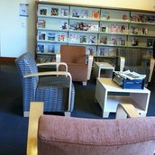 -This is a picture of the lounge in the library