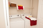 Full sized washer/dryer in each unit!