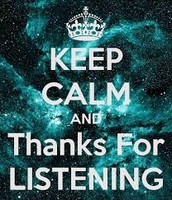 ~Thanks for listening~