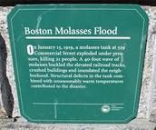 Memorial of the flood at boston harbor