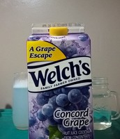 But with a bit of grape juice!