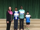 1st, 2nd, and 3rd place Spelling Bee Winners!