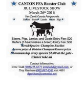 March 26th @ Van Zandt County Fairgrounds