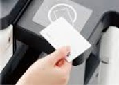 Tap badge onto card reader