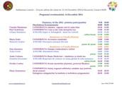Programul zilei de 1 Martie 2015