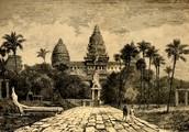 Drawing of the Angkor wat