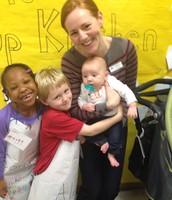 Families having fun at the Kindergarten Community Showcase Event