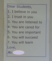 Letter to her Students