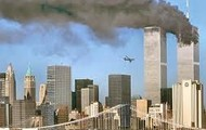 One of the towers that a plane hit
