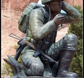 Monument for the Navajo Soldiers