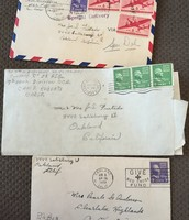 Some of the many letters William would send home