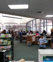 Students attend spring book fair