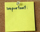 Reminders/Notices