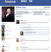 Fakebook page of William Jones
