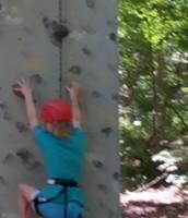 Rachel is ready to climb!