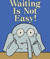 Waiting is Not Easy! by Mo Willems