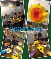 Learning about the layers of the earth!