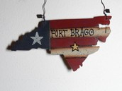 Fort Bragg NC Ornament Sample