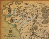 Middle Earth rivers outlined