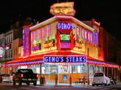 Prueben Geno's cheesesteak.