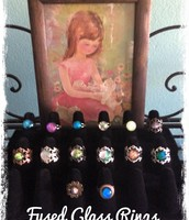 Hand Made Fused Glass Rings